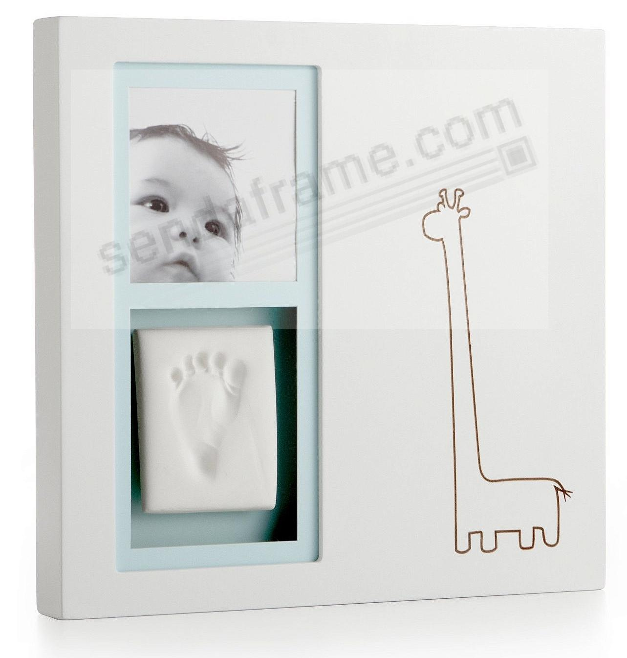 Babyprints Modern wall frame in White with Pink and Blue inserts ...
