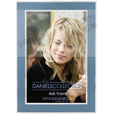 Smokey blue metal overlay contemporary design by Dennis Daniels®