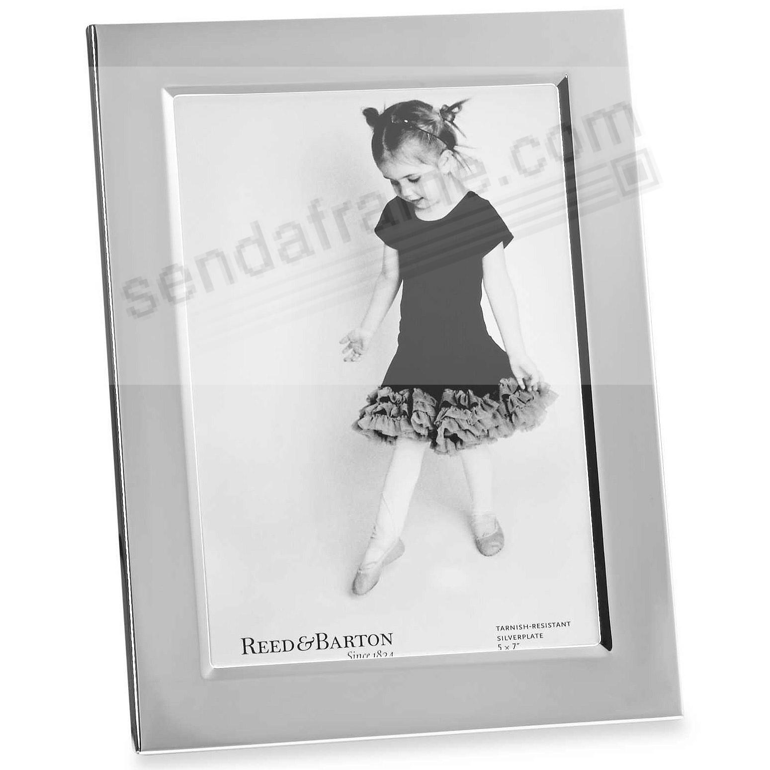 The original Reed & Barton® silverplate channel border 5x7 frame - engraveable