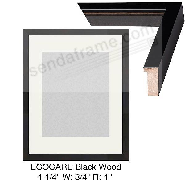 Custom-Cut™ ECO-CARE Black H:1-1/4 W:3/4 R:1