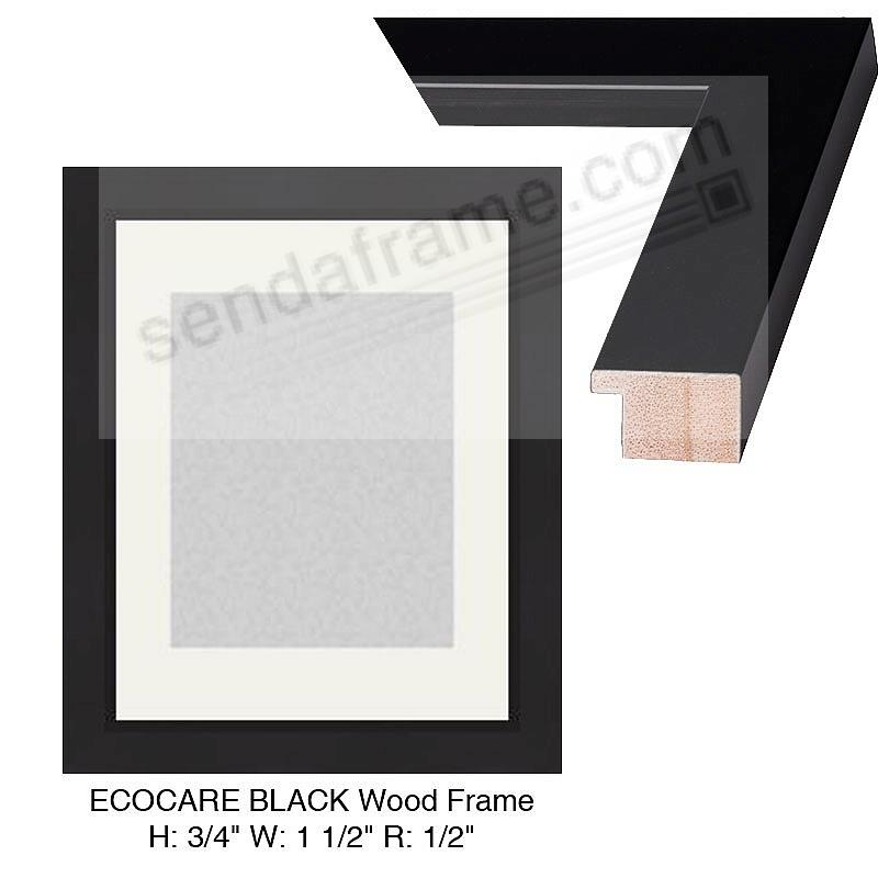 Custom-Cut™ ECO-CARE Black H:¾ W:1-½ R:½ (Medium Width)