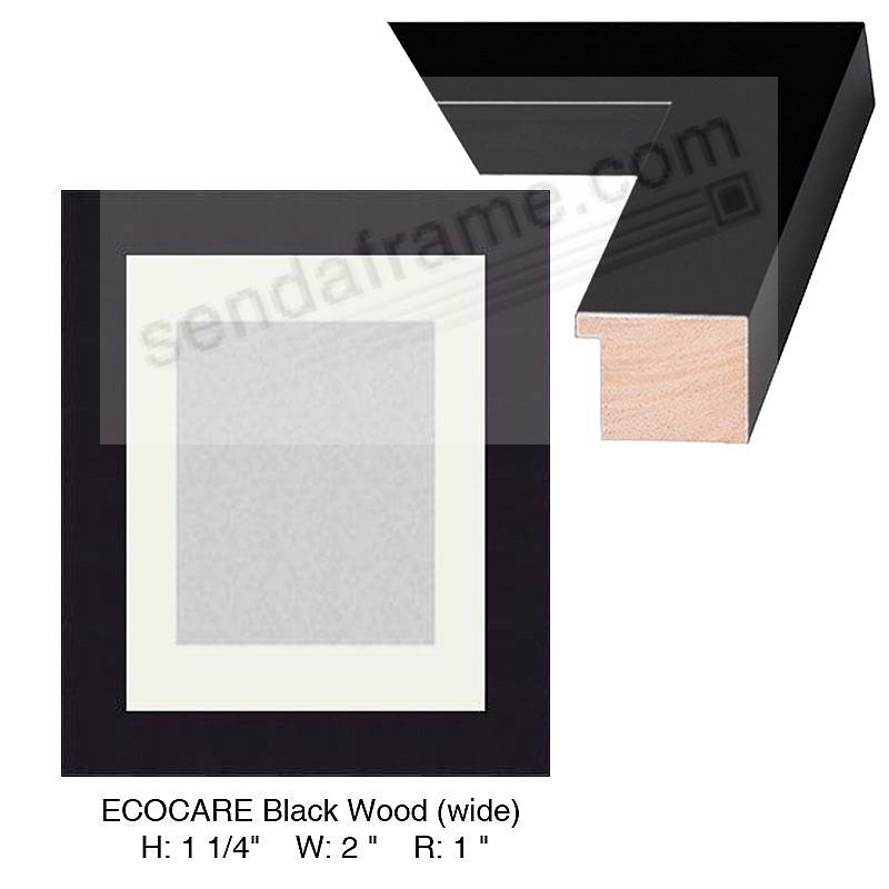 Custom-Cut™ ECO-CARE Black Wood H:1-1/4in W:2in R:1in (wide)
