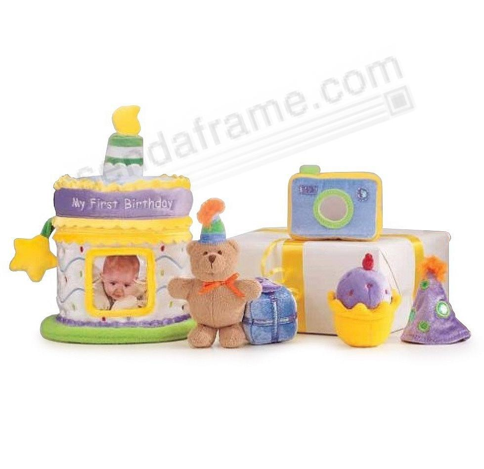 My 1st Birthday plush photo birthday cake toy set by Gund - Picture ...