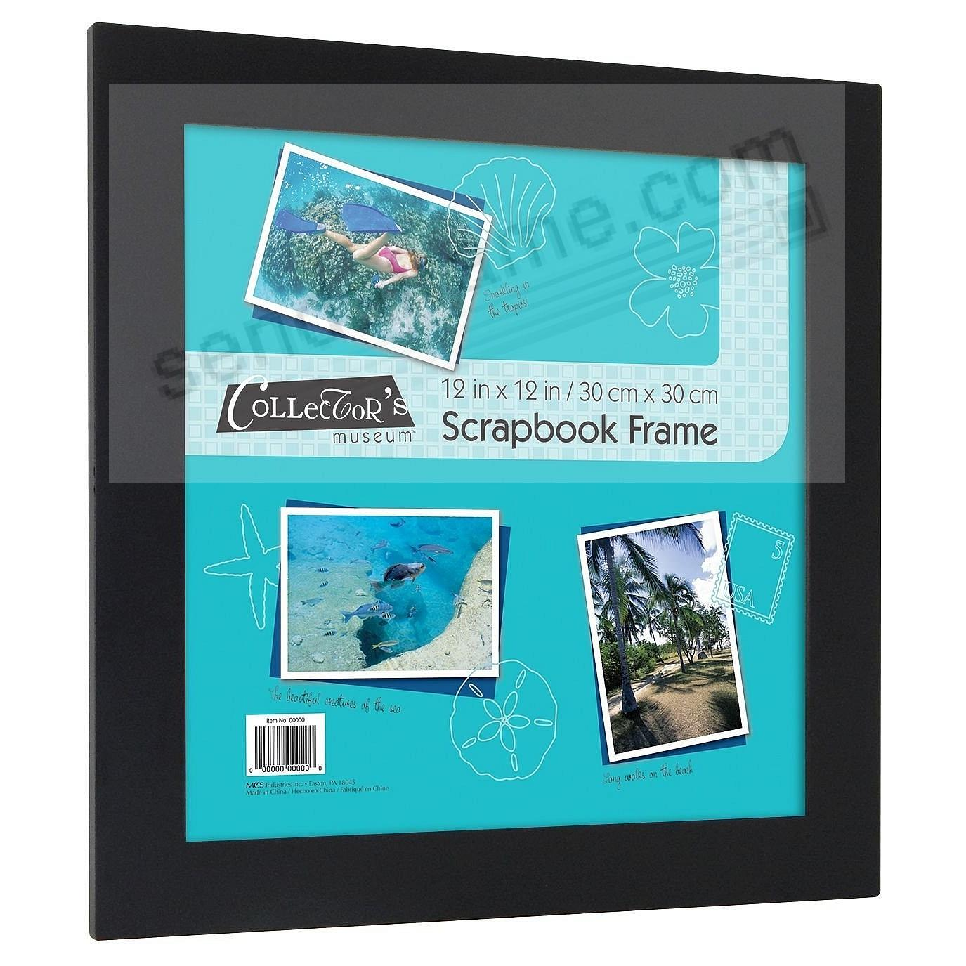 URBAN Flat Black Scrapbook 12x12 frame by MCS®