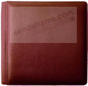 Red smooth grain leather #101 album with fold-out pages by Raika®