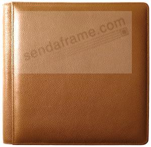 ROMA TAN #102 smooth grain leather 2-up album by Raika®