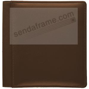 ROMA BROWN smooth grain leather medium scrapbook #162 style album by Raika®