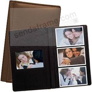 ROMA BROWN smooth grain leather #127 album with 6-at-a-time pages by Raika®