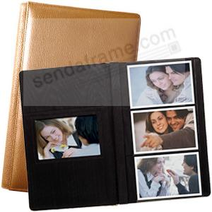 ROMA TAN smooth grain leather #127 album with 6-at-a-time pages by Raika®