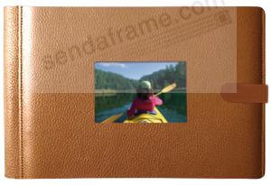 ROMA TAN smooth grain leather 4-on-a-page window #177 album by Raika®