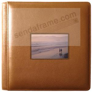 ROMA TAN smooth grain leather #113 window album with 5-at-a-time pages by Raika®