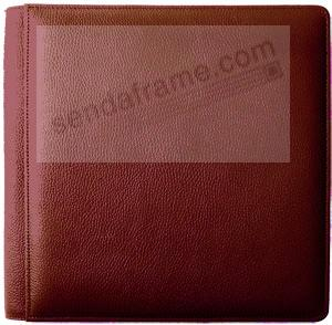 ROMA RED smooth-grain leather #133 magnetic page album by Raika®