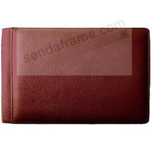 ROMA RED #136 smooth grain leather 1-up 6x4 album by Raika®