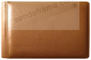ROMA TAN #136 smooth grain leather 1-up 6x4 album by Raika®