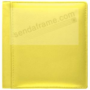 RODEO YELLOW fine-grain leather #105 album with 5-at-a-time pages by Raika®