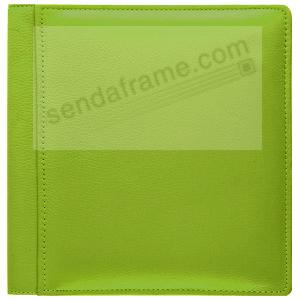 RODEO LIME-GREEN pebble-grain leather #106 scrapbook album by Raika®