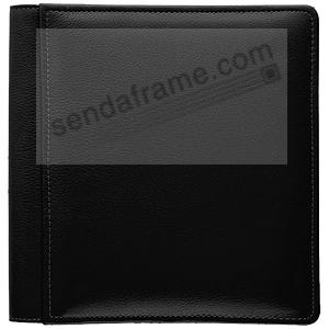 RODEO BLACK pebble grain leather #133 magnetic page album by Raika®