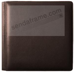 RODEO MOCHA pebble grain leather #133 magnetic page album by Raika®