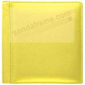 RODEO YELLOW pebble grain leather #133 magnetic page album by Raika®