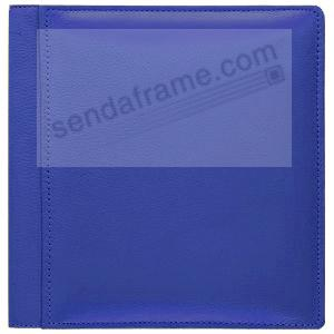 RODEO BLUE pebble grain leather #133 magnetic page album by Raika®