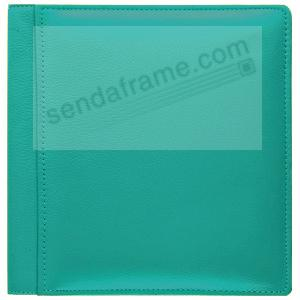 RODEO TURQUOISE pebble grain leather #133 magnetic page album by Raika®