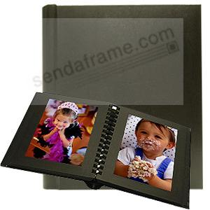 Professional PARADE Black slip-in mat photo album for 20 3½x5 prints