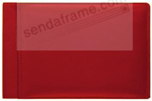 RODEO RED #136 pebble grain leather 1-up 6x4 album by Raika®