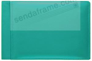 RODEO TURQUOISE #136 pebble grain leather 1-up 6x4 album by Raika®