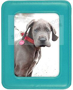 RODEO TURQUOISE pebble grain leather ROUND CORNER #172 frame by Raika®
