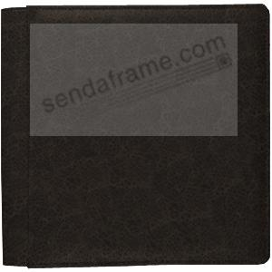 VINTAGE BLACK fine-grain leather #105 album with 5-at-a-time pages by Raika®