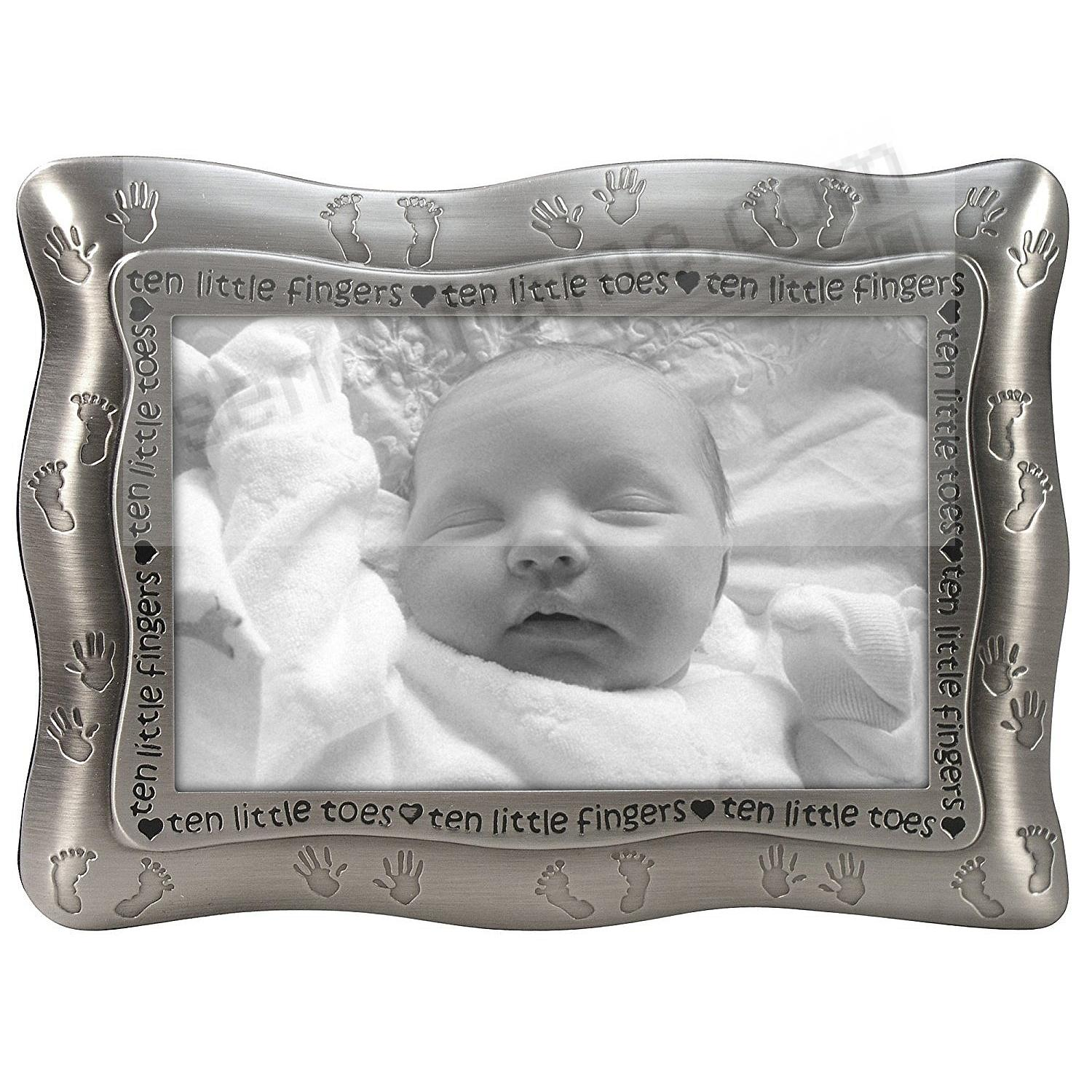 TEN LITTLE FINGERS AND TEN LITTLE TOES pewter frame by Malden Design®