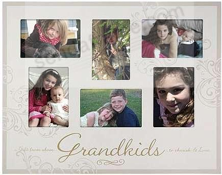 Grandkids 6 Opening Collage Special Keepsake Frame By