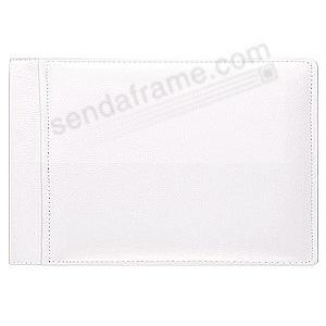 WHITE-WHITE #136 pebble grain leather 1-up 6x4 bragbook album by Raika®