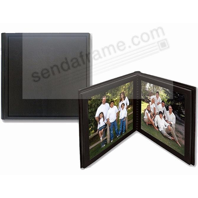 Professional PARADE BLACK/Black slip-in mat photo album for 36 5x7 prints