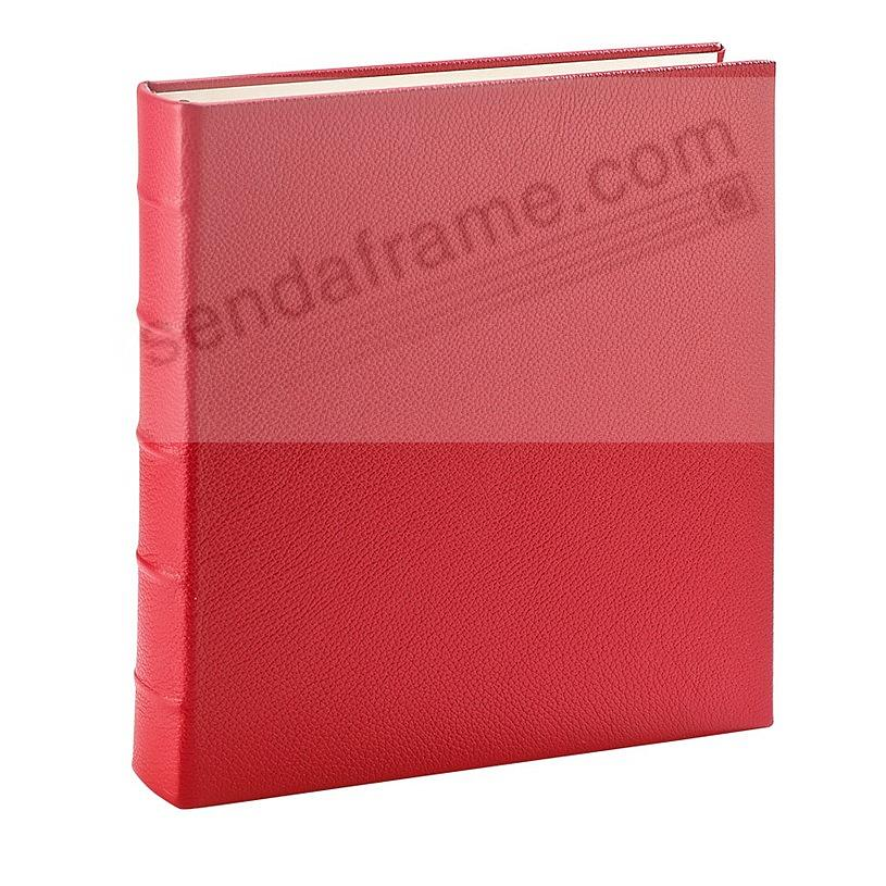 Standard 3-ring Traditional Red Fine European Leather binder (unfilled) by Graphic Image™