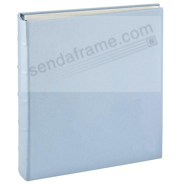 3-ring Baby-Blue Fine European Leather binder (unfilled) by Graphic Image™