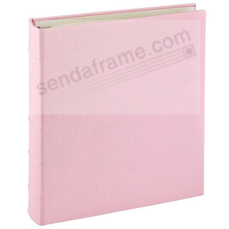 Standard 3-ring Light-Pink Fine Leather binder (unfilled) by Graphic Image™