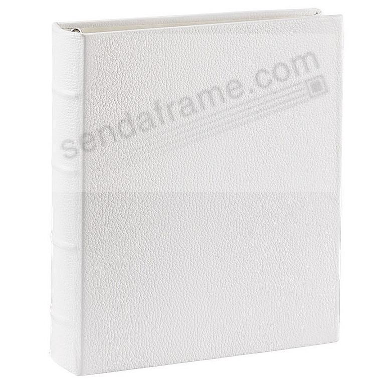 Standard 3-ring Chalk-White Fine European Leather Binder (unfilled) by Graphic Image™