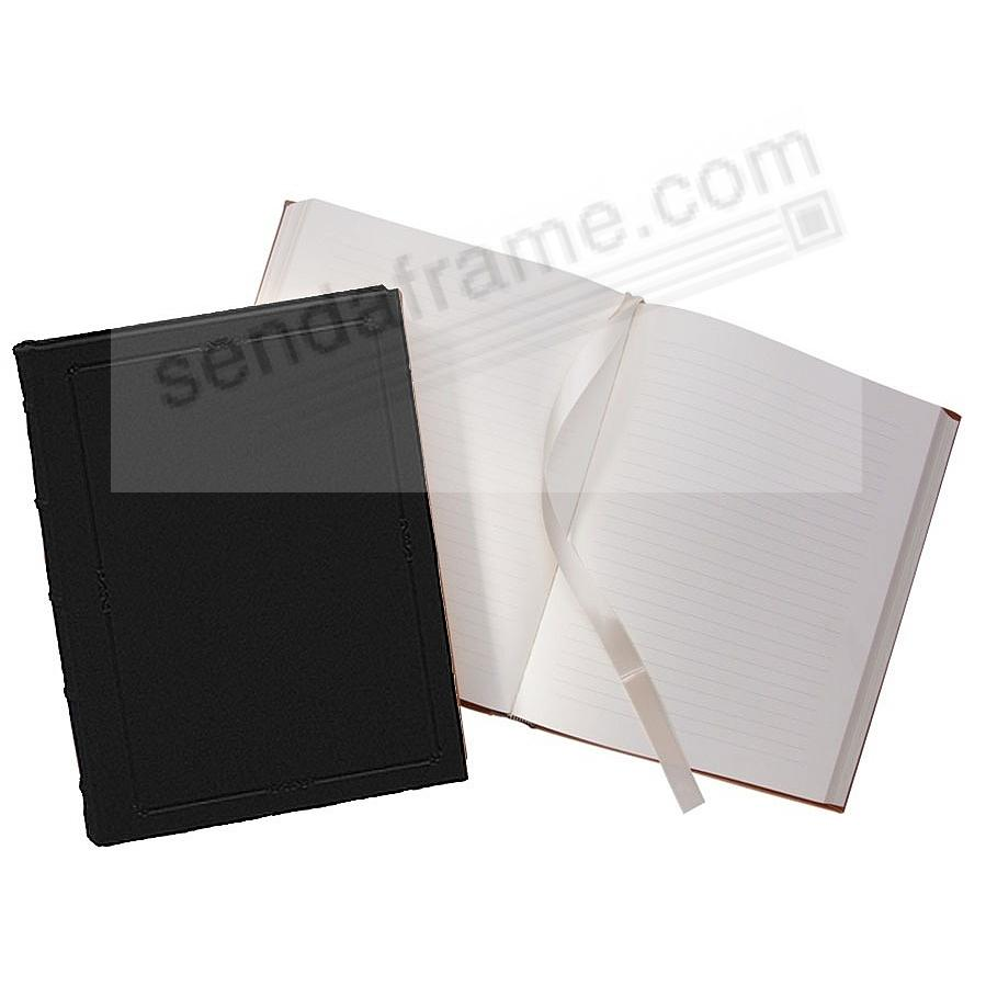 Traditional 8in Hardcover Black fine leather Journal by Graphic Image™