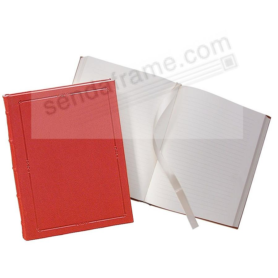 Traditional 8in Hardcover Red Leather Journal by Graphic Image™