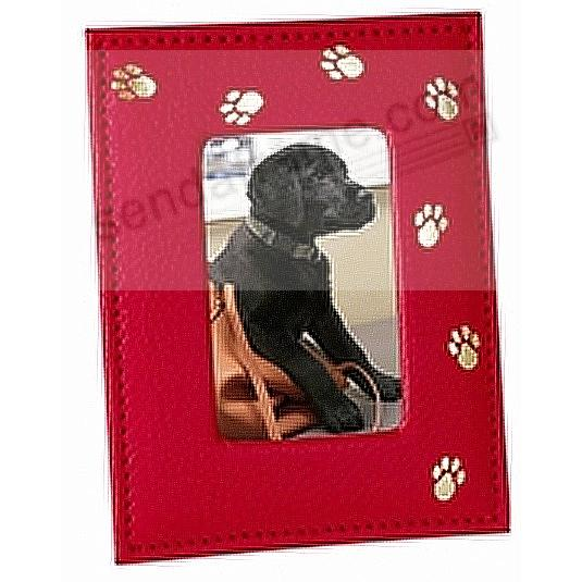 Red fine leather Pet Frame by Graphic Image™