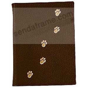 Mocha-Brown Fine Leather Pet Brag Book for 20 prints<br>by Graphic Image&trade;