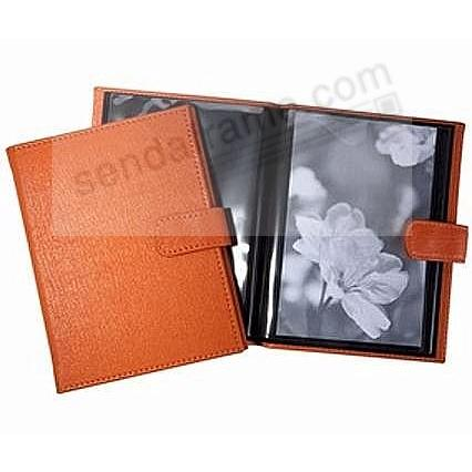 Tangerine-Orange Fine Leather BRAG BOOK for 20 prints<br>by Graphic Image&trade;