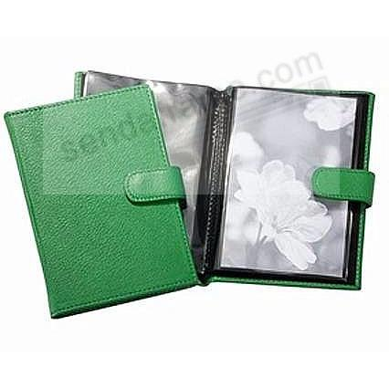 Green Fine Leather Brag Book for 20 prints<br>by Graphic Image&trade;