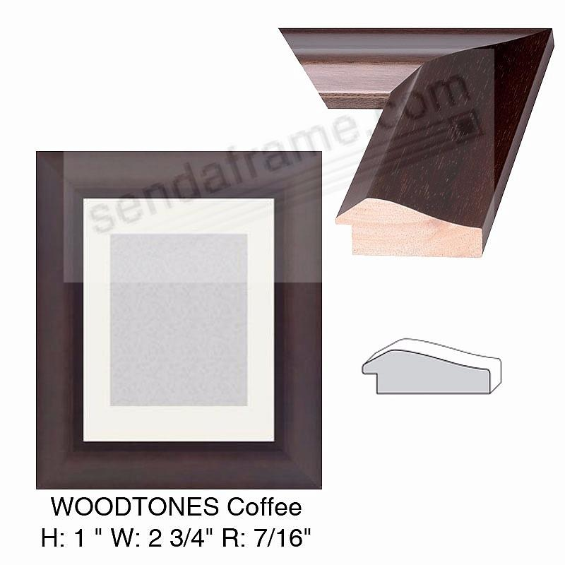 Custom-Cut™ WOODTONES COFFEE Stain H:1 W:2-3/4 R:7/16