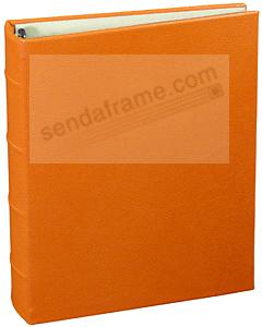 Orange Leather 2-up Clear Pocket 4-ring Album<br>by Graphic Image&trade;
