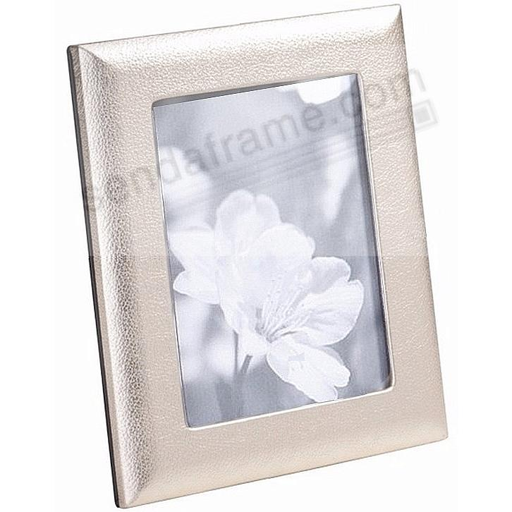 Metallic White Gold Leather STUDIO Frame<br>by Graphic Image&trade;