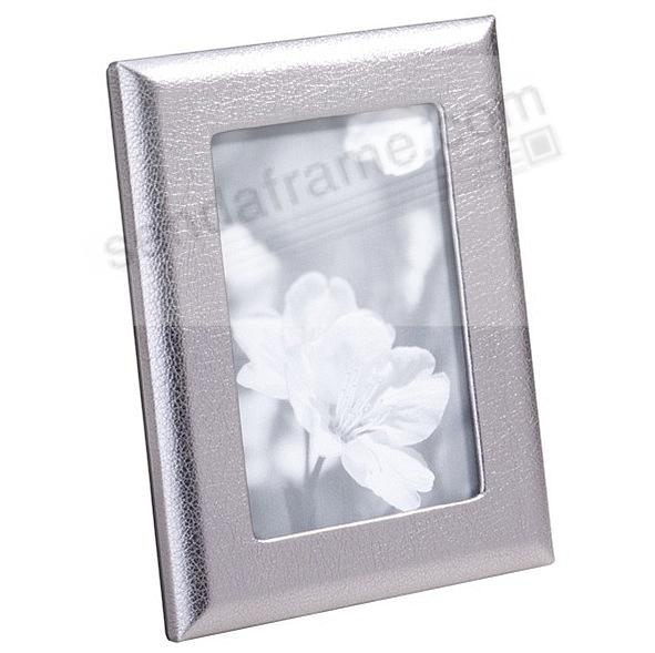 Metallic Silver Leather STUDIO Frame by Graphic Image™