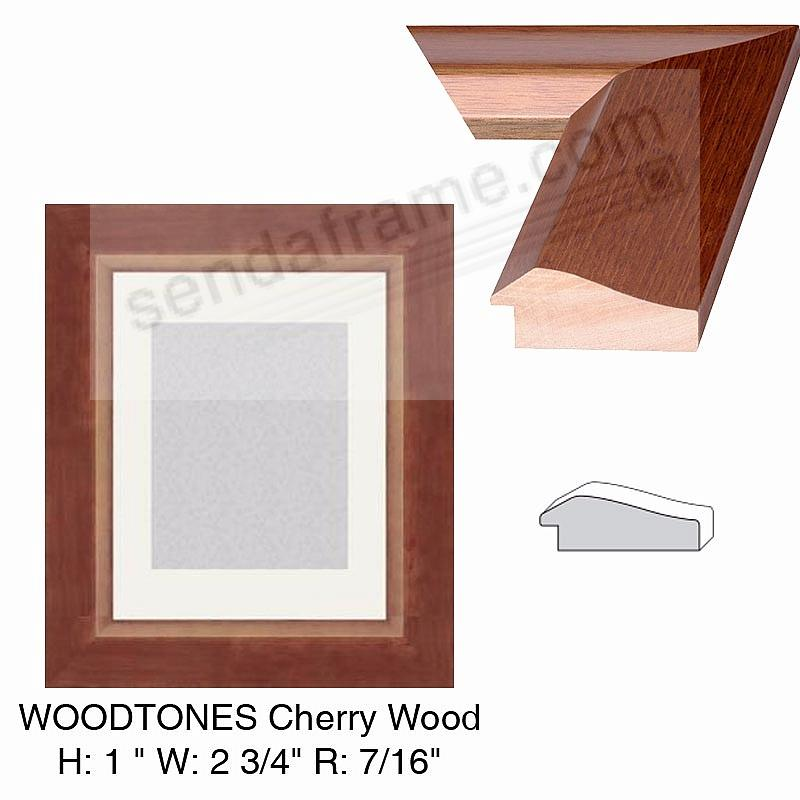Custom-Cut™ WOODTONES Cherry Wood H:1 W:2-3/4 R:7/16
