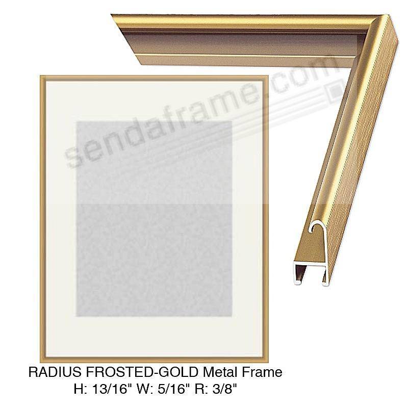 Custom-Cut™ RADIUS Frosted-Gold Metal Frame H:13/16 W:5/16 R:3/8 ...